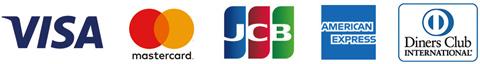 お支払対応可能カード VISA/MasterCard/JCB/AMEX/DINERS